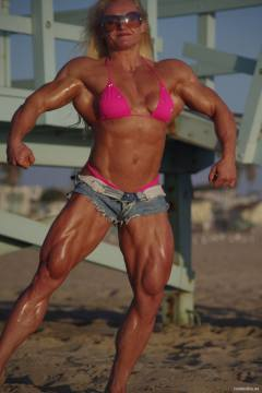 Brigita Brezovac big female bodybuilding model with mega muscle mass