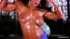 Marina Lopez female bodybuilder nude, nice to look all her perfect muscle in HD